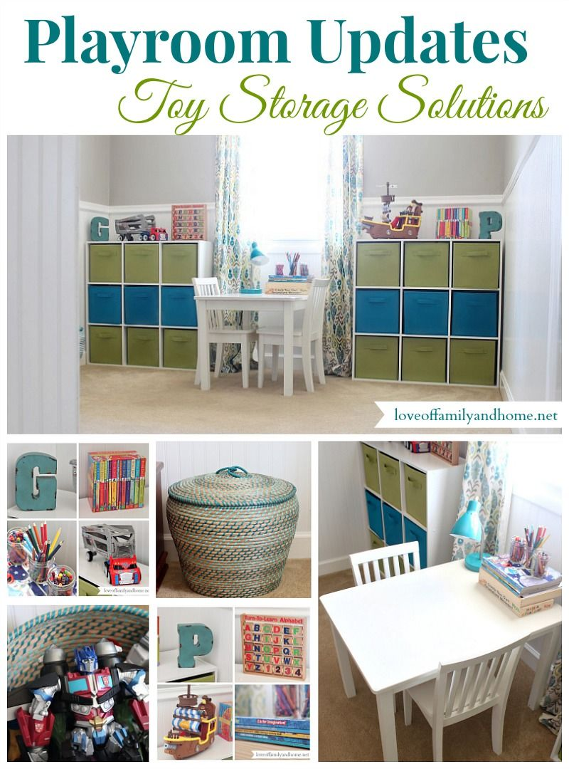 10 Types Of Toy Organizers For Kids Bedrooms And Playrooms: Toy Organization Ideas {Another Playroom Update}