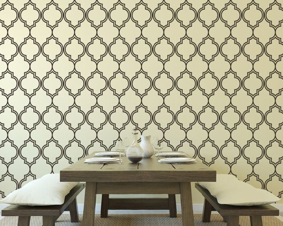 Wall Decal Moroccan Pattern Shapes sur Etsy $58.30 CAD  sc 1 st  Pinterest : moroccan wall decals - www.pureclipart.com