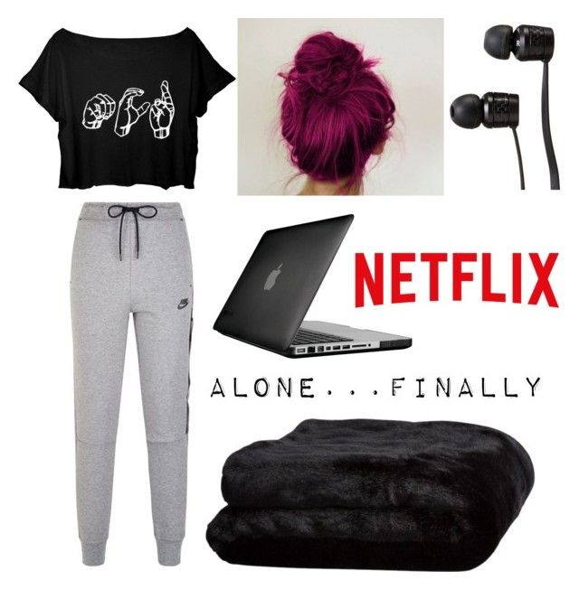 """""""Dream Binge-night"""" by mychemicalpanda187 ❤ liked on Polyvore featuring NIKE, Speck, Vans and Olivier Desforges"""