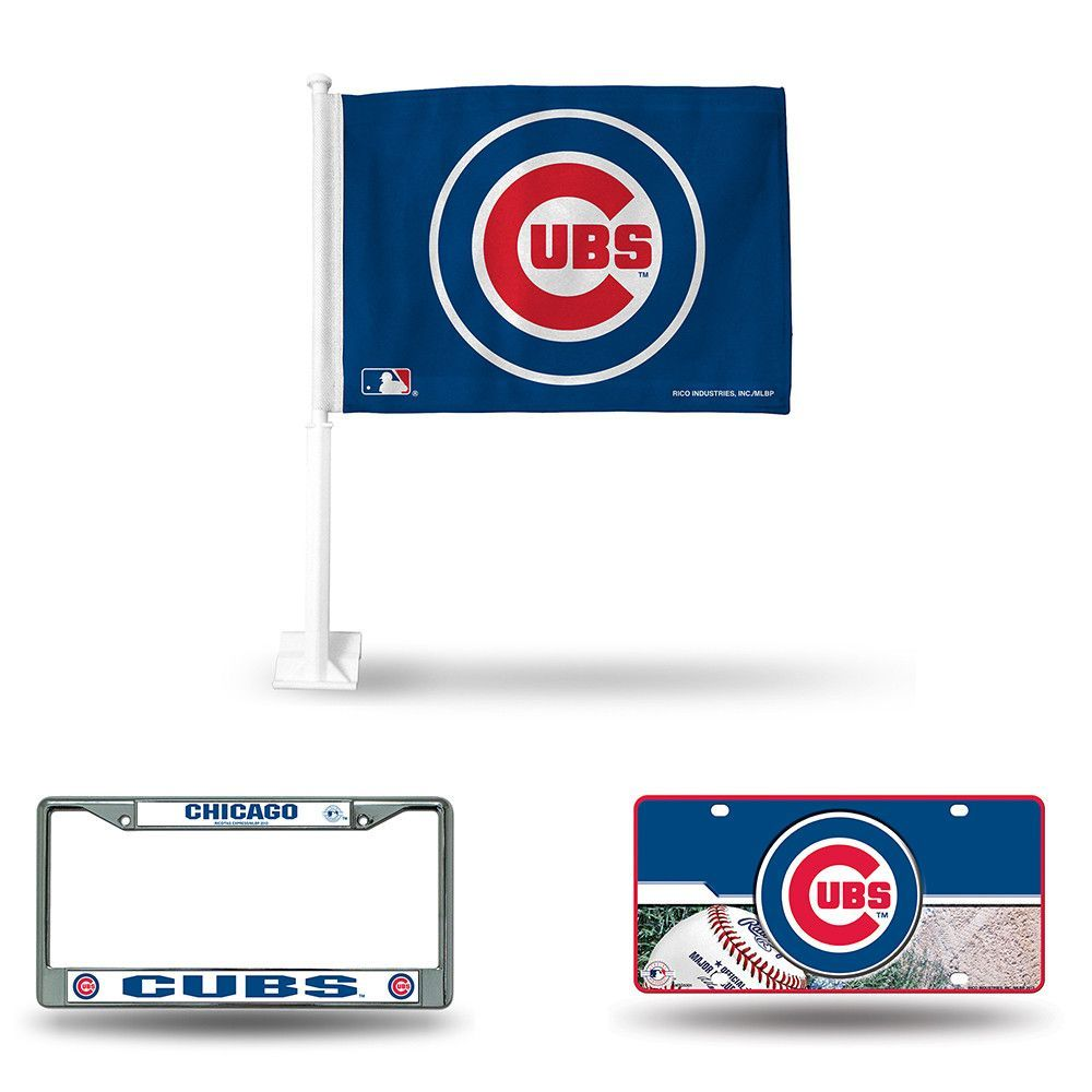 Chicago Cubs MLB 3 Piece Auto Fan Pack