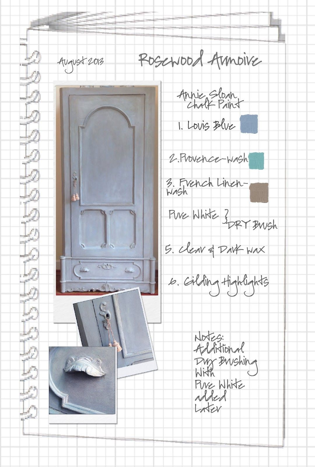 COLORWAYS Rosewood Armoire painted in Annie Sloan Chalk Paint Louis ...