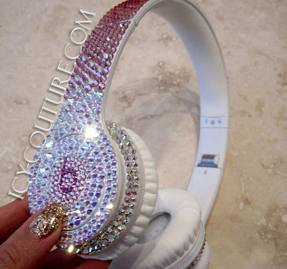 Reversed Pink Fade Bling Your BEATS by Dre Swarovski Crystals  565c5298c0b9
