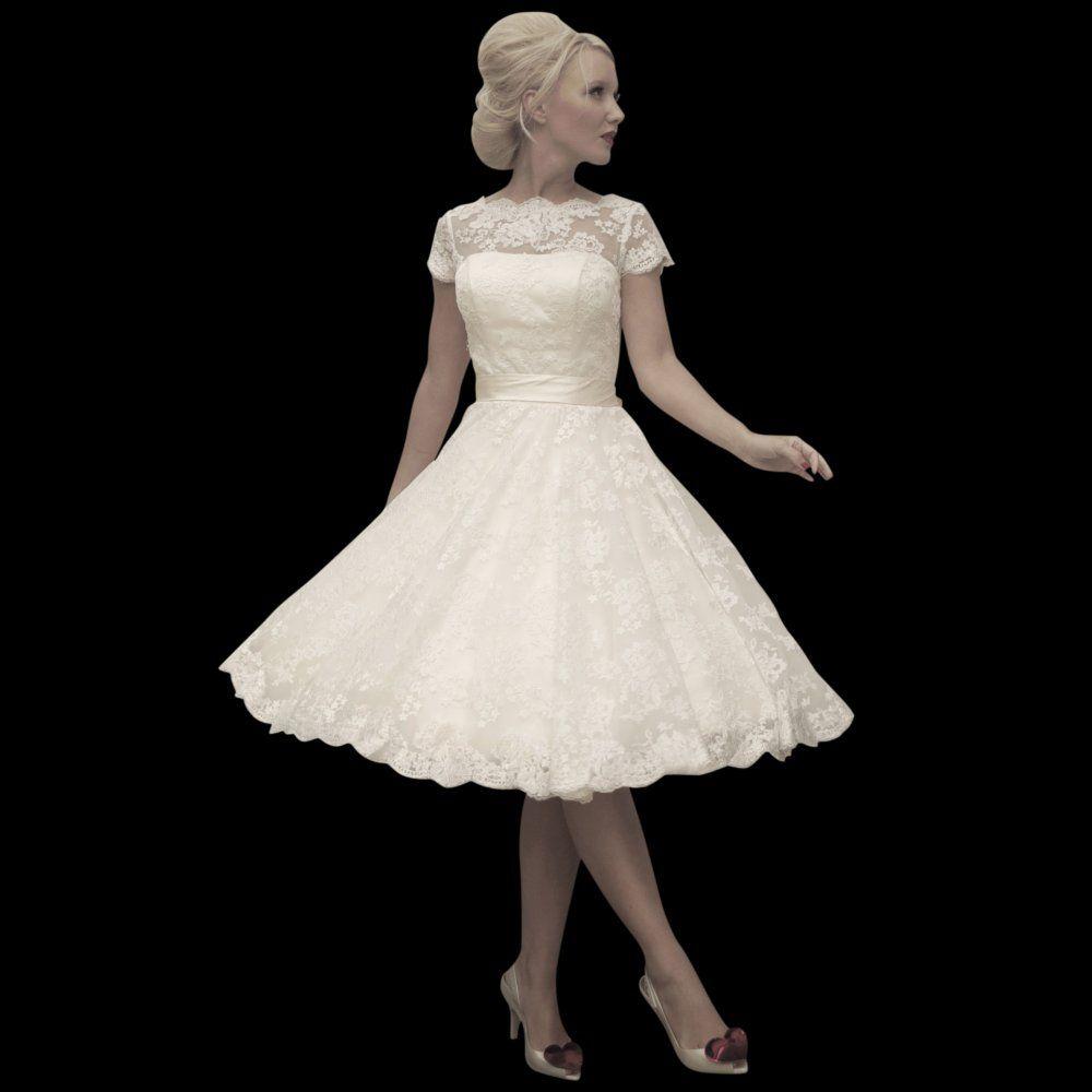 Vintage Short Wedding Dress Uk