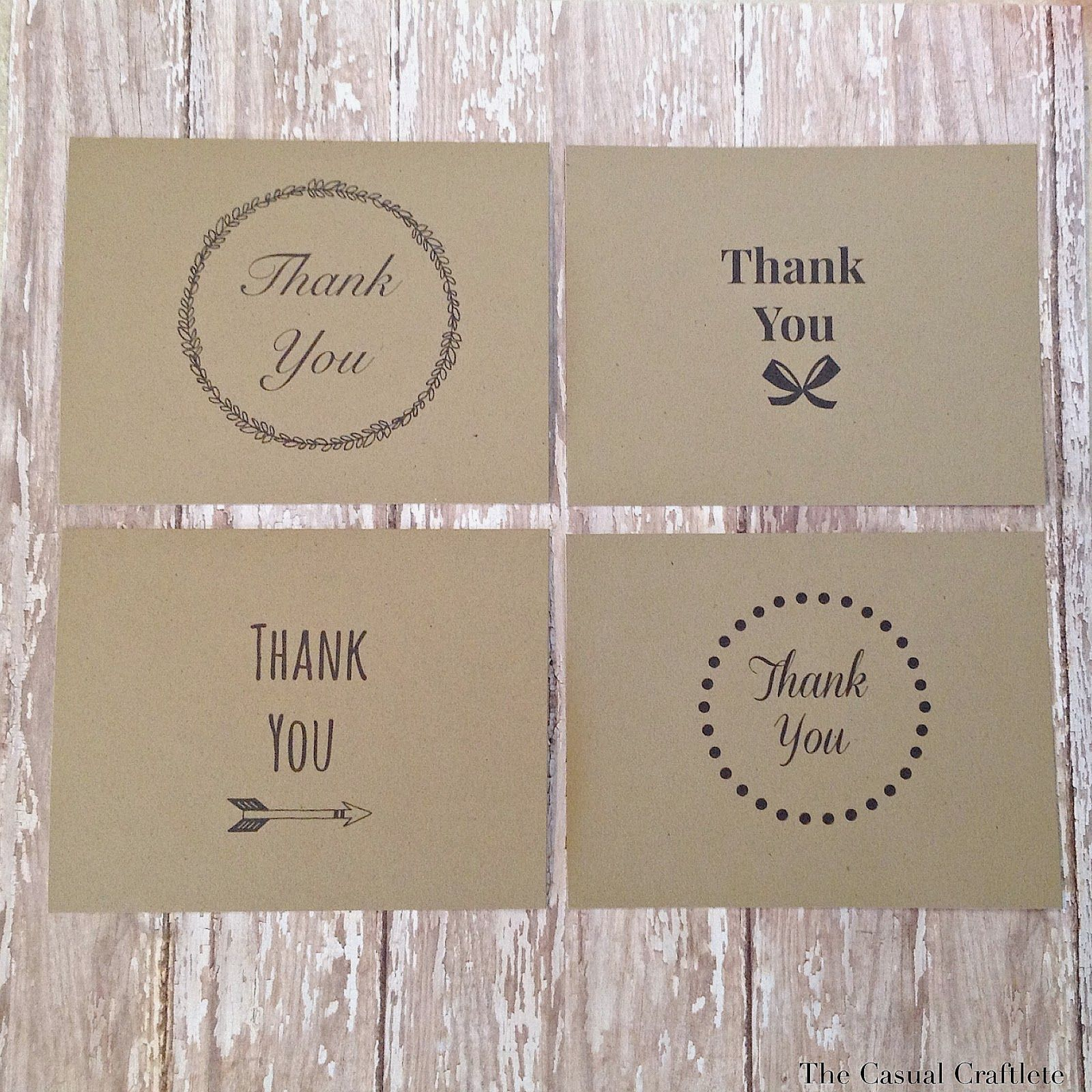 Daft Crafts free printable thank you cards  Crafting  Pinterest