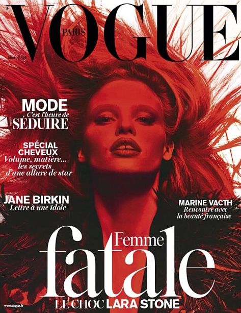 Lara Stone - Vogue Paris - March 2014 - Cover | TheImpression.com