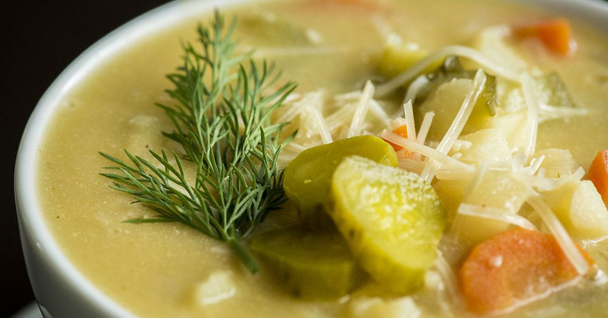 Tangy Dill Pickle Potato Soup