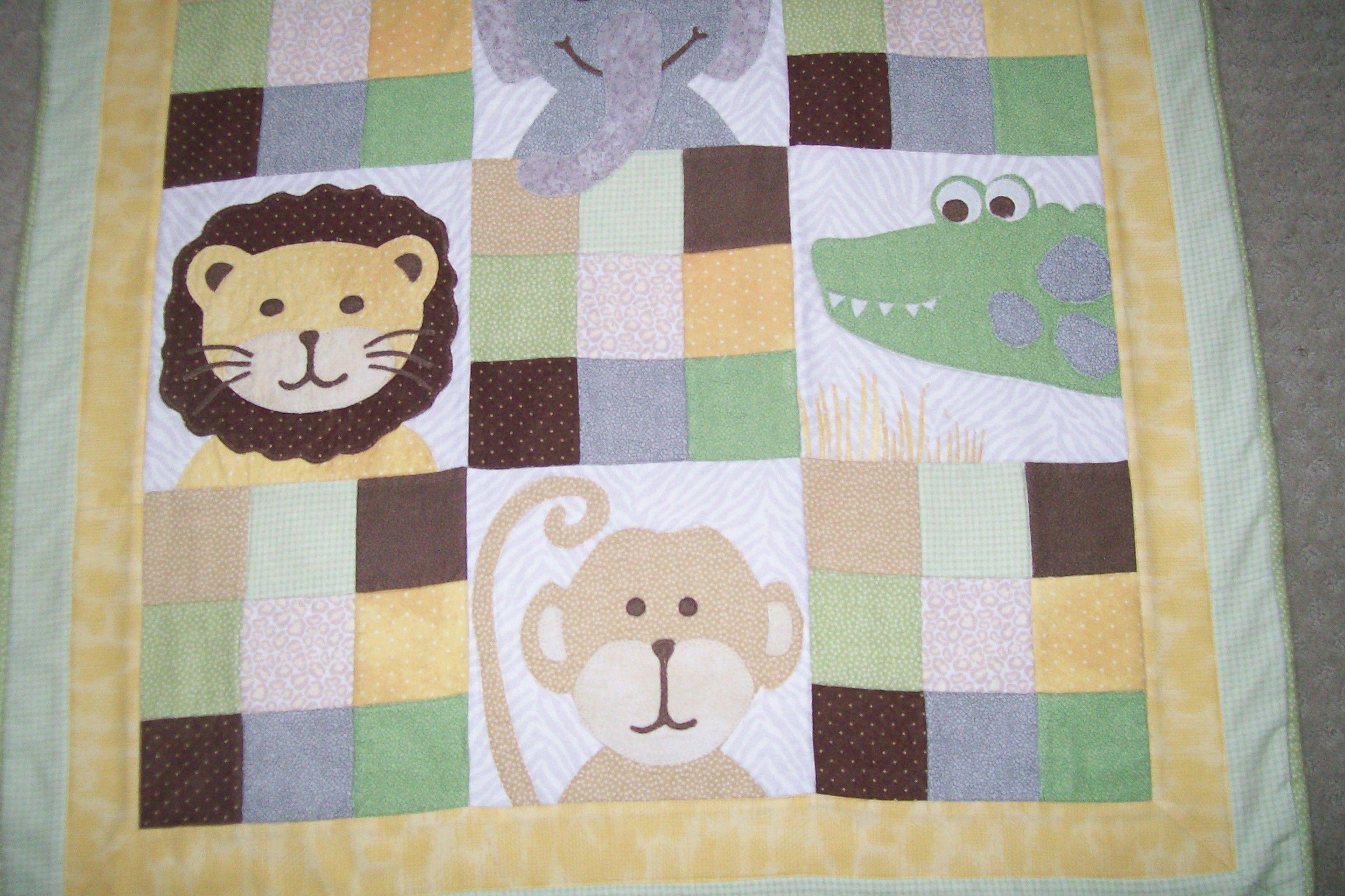 Zoo baby quilt Grandbaby Pinterest