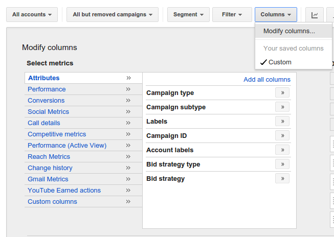 Mapping Reports to the Google Ads UI | AdWords API | Google