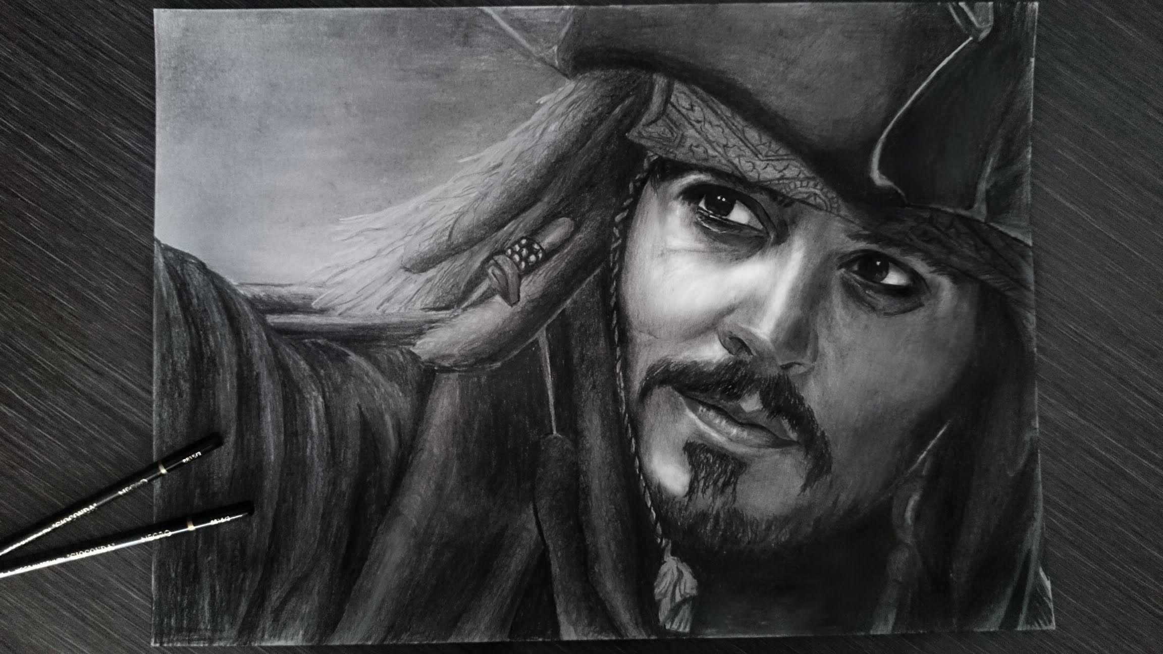 Jack Sparrow Draw Drawing