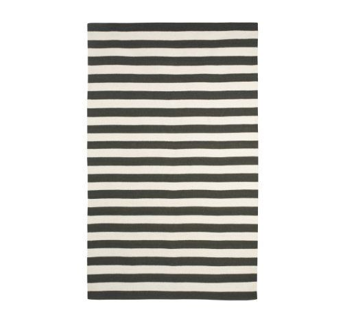 DwellStudio Draper Stripe Ink And Cream Rug, 5 By 8 Feet By Dwell Studio Ideas