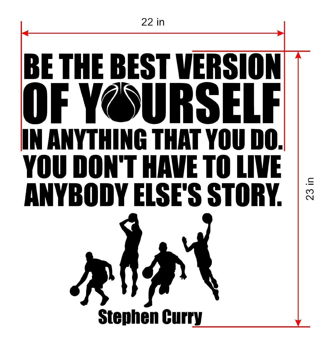 Amazon stephen curry quote wall decalsbasketball wall decals amazon stephen curry quote wall decalsbasketball wall decalssports nba amipublicfo Choice Image