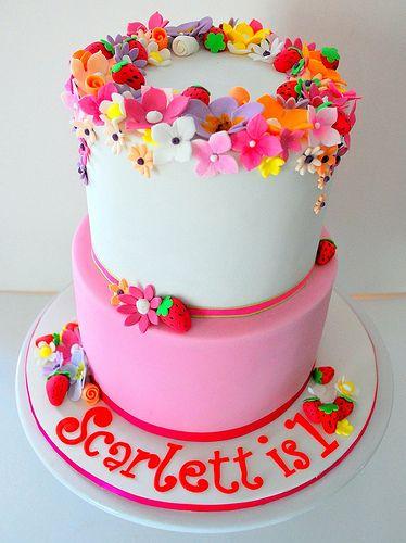 Scarletts 1st Birthday Cake Birthday cakes Cake and Birthdays
