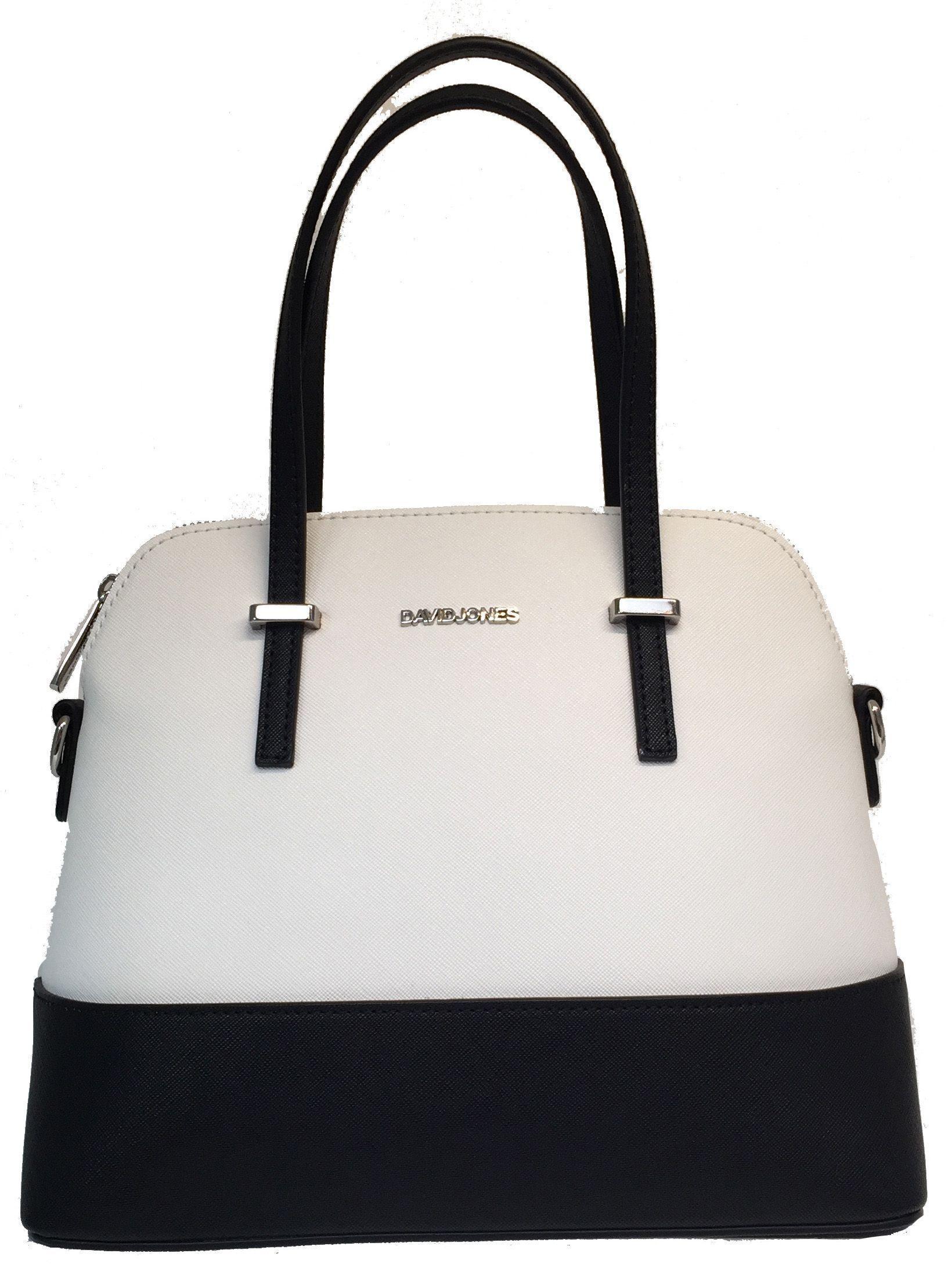 David Jones Black White Bag