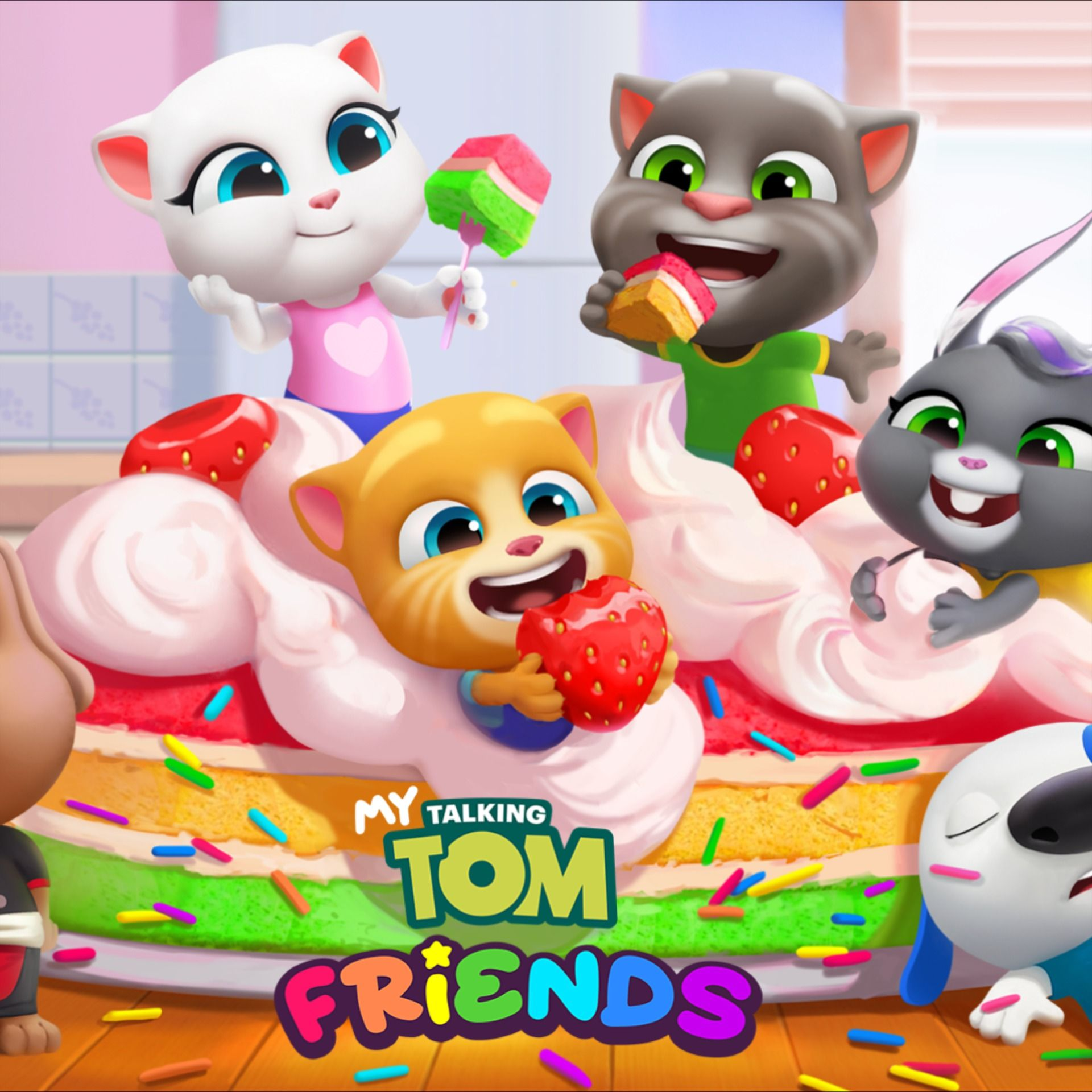 Meu Talking Tom Amigos Ja Esta Disponivel Para Download No Brasil Filmes Desenhos Animados Dedo Do Meio Desenho Disney