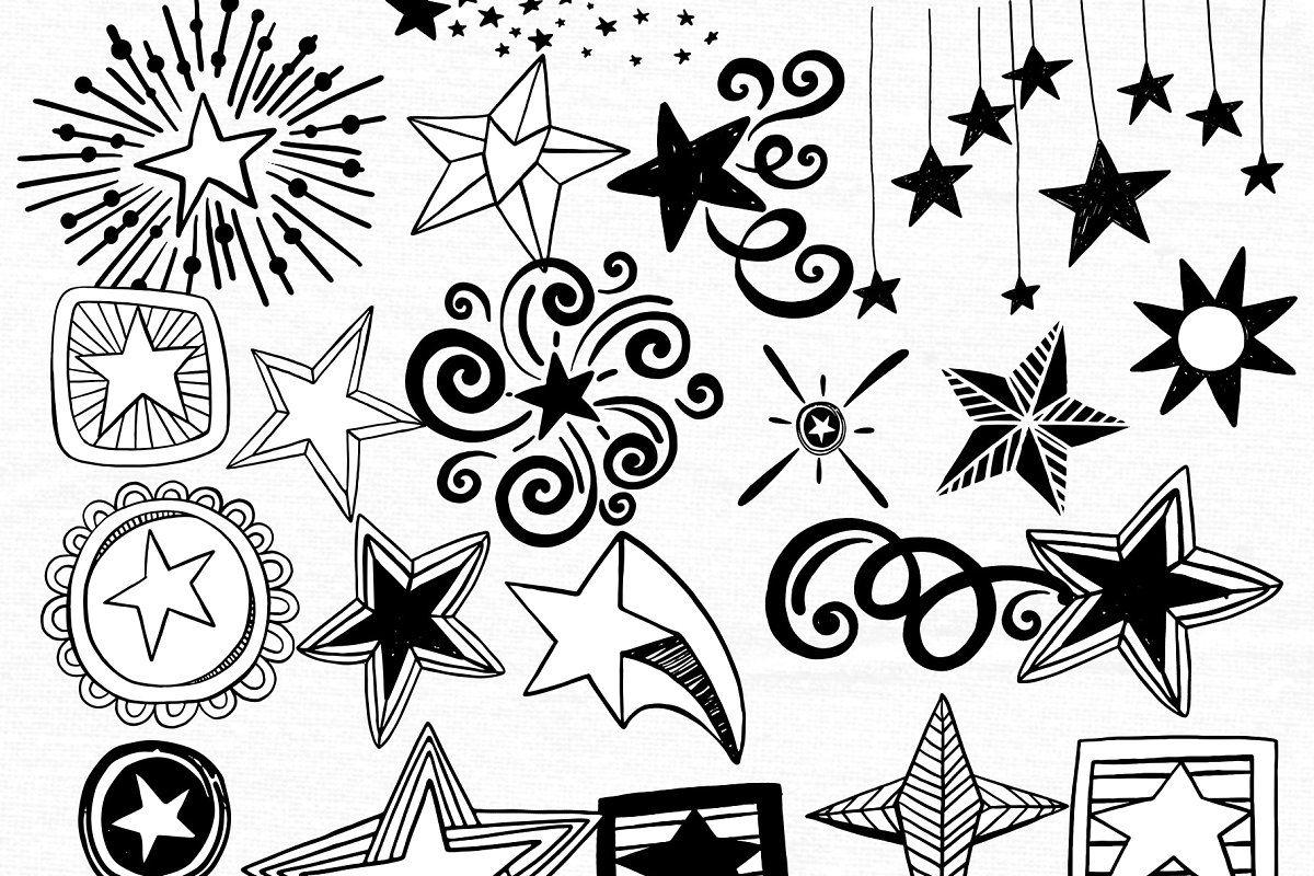 Star Png Vector Star Doodle Clipart Star Doodle Doodles Clip Art