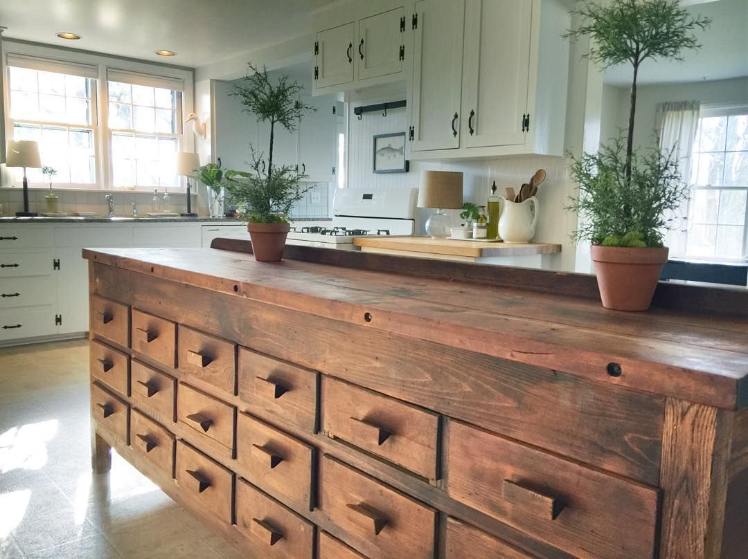 ᴹᴬᴺᴰᵞ On Instagram Our Kitchen Island Has A Great Story My Husband And I Found It On Cr Apartment Kitchen Island Kitchen Interior Interior Design Kitchen