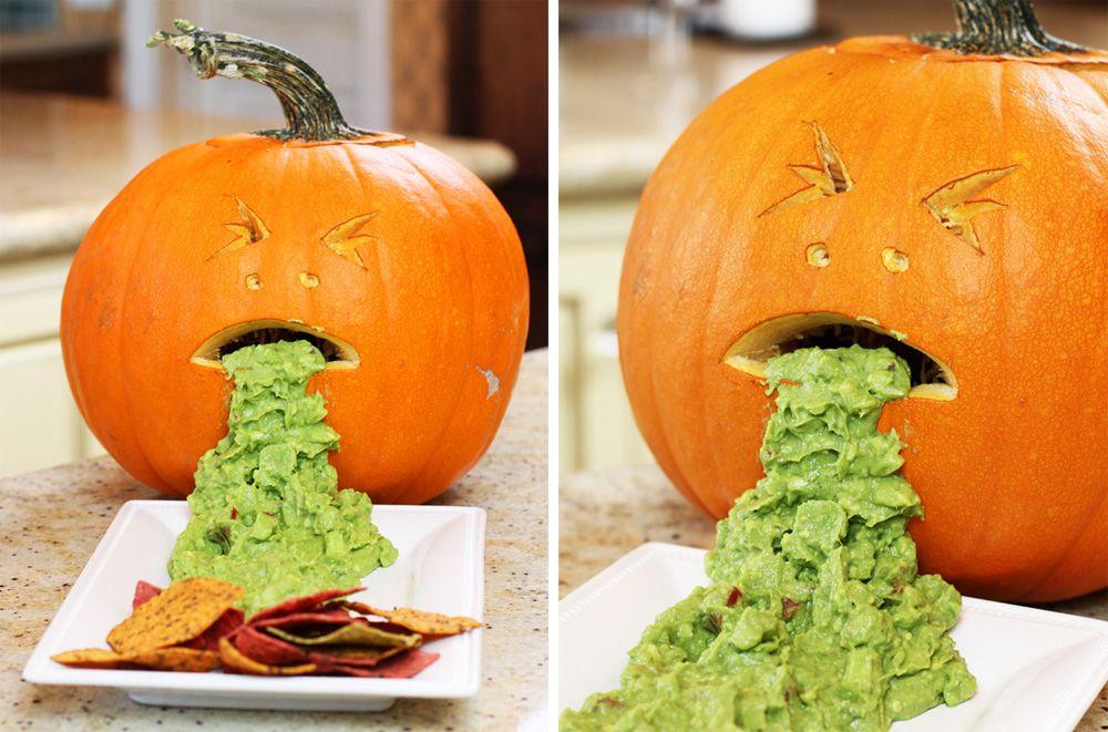 pumpkin vomit guacamole halloween recipe party