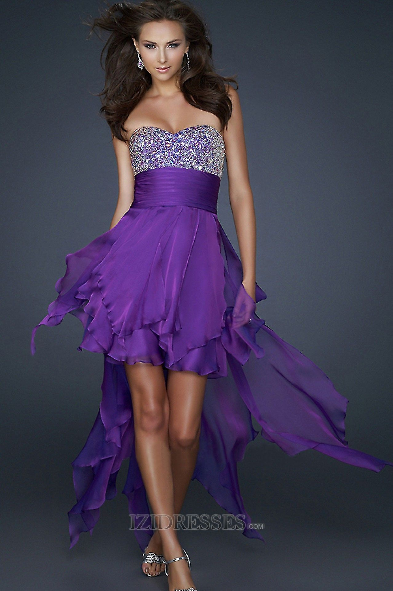 Sheath/Column Strapless Sweetheart Chiffon Cocktail Dresses ...