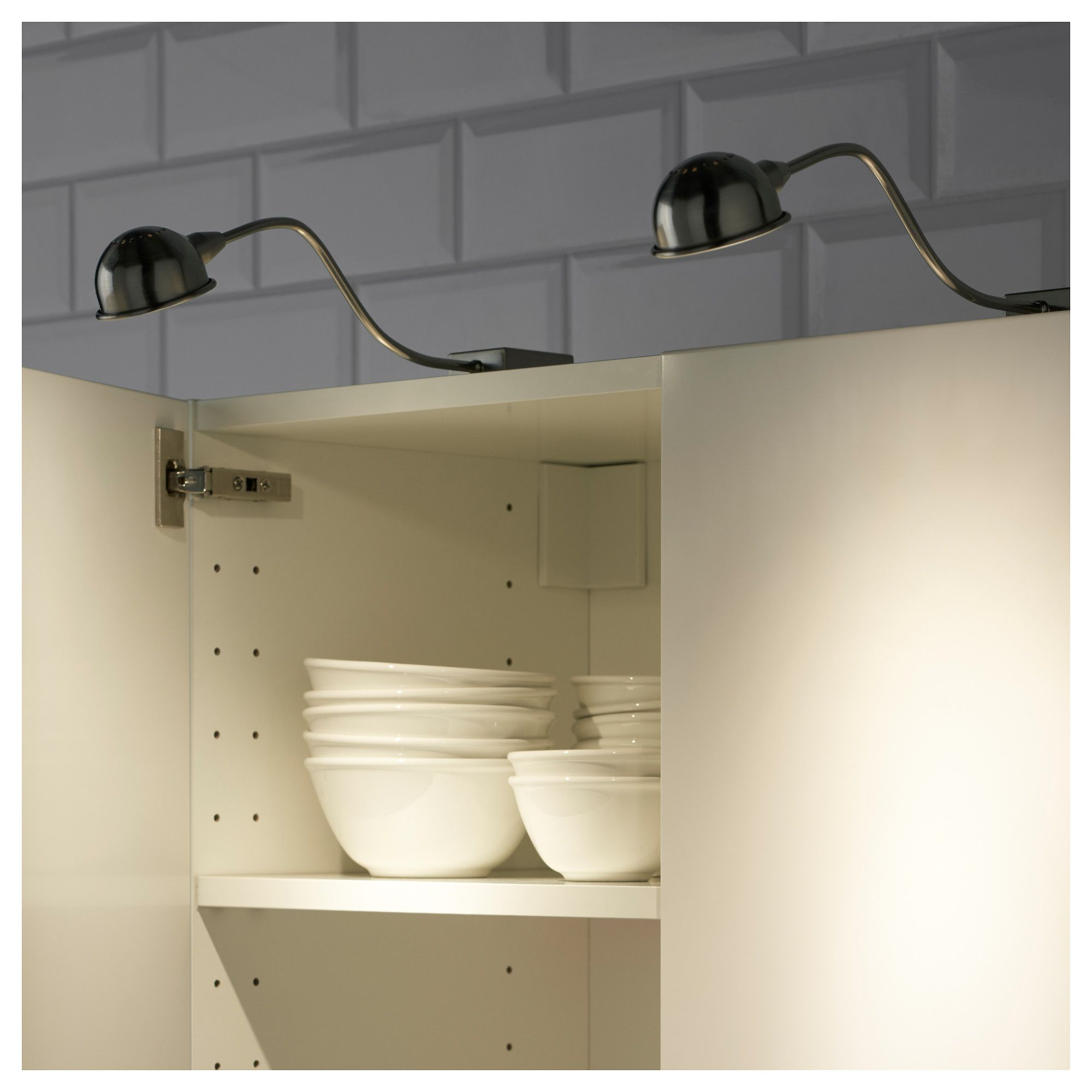 Ikea Format Led Cabinet Light Nickel Plated Products In