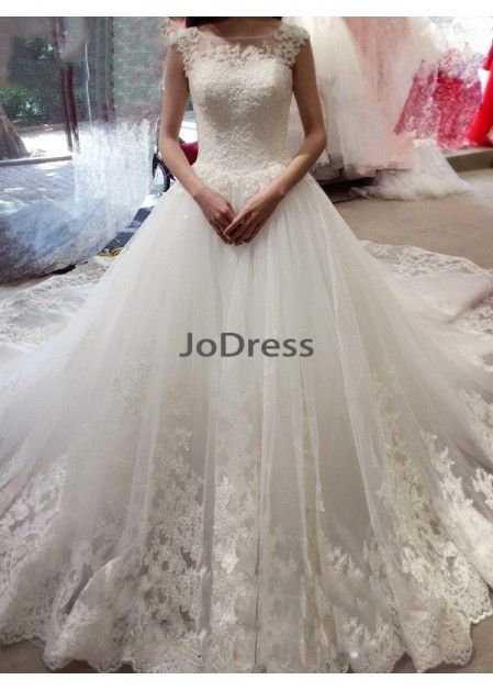 2852a114791 Jodress 2019 Beach Wedding Ball Gowns T801524714618
