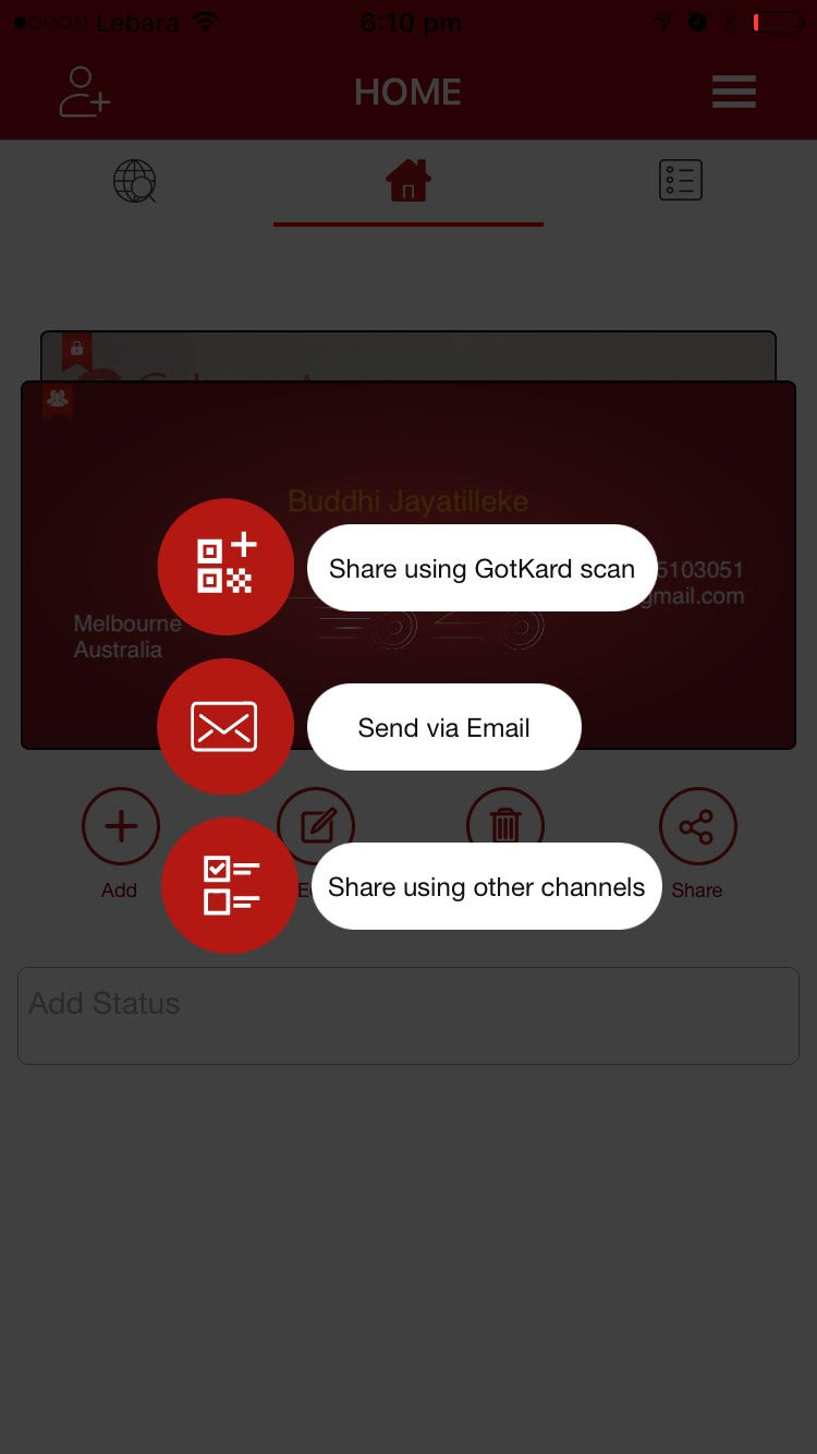 App screen gotkard save trees sign up to digital business card app screen colourmoves
