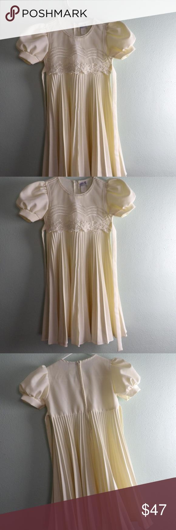 Cream colored vintage wedding dresses  BT Kids Girls Chiffon Wedding Dress Vintage E  My Posh Closet