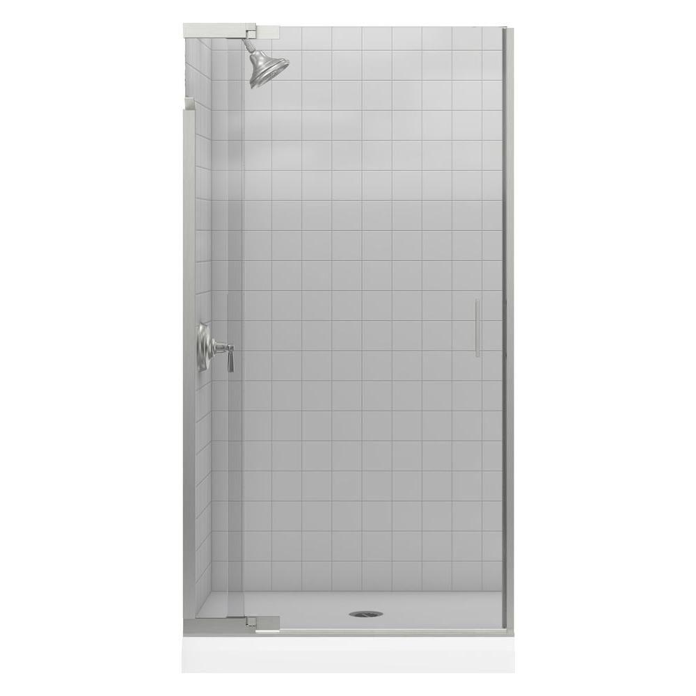 Kohler Purist 39 In X 72 In Heavy Semi Framed Pivot Shower Door In