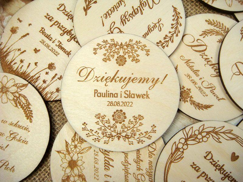 Podziekowanie Dla Gosci Weselnych Magnes Na Lodowke Pm4 Decorative Plates Decor Plates