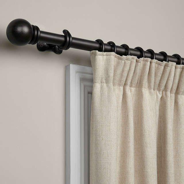 black waxed curtain pole