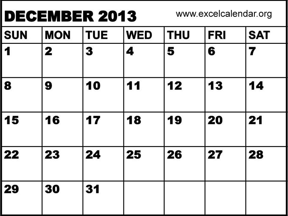 December  Calendar With Holidays  December  Excel
