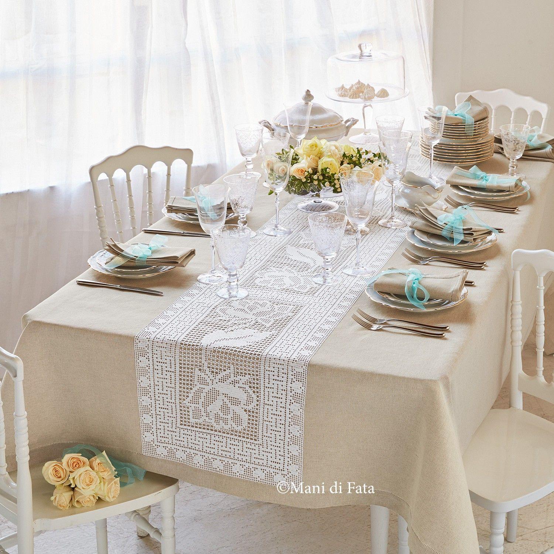 Cotone Lino Runner da Tavolo Tovaglia Puro Cucina da Pranzo Festa Arredo Casa