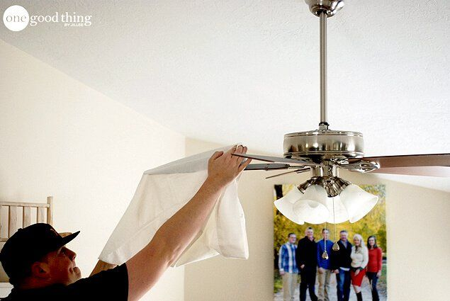 How to clean your ceiling fan in seconds cleaning ceiling fans cleaning ceiling fans mozeypictures Images