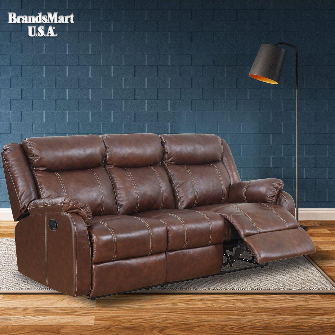 Luxury top Grain Leather Reclining sofas
