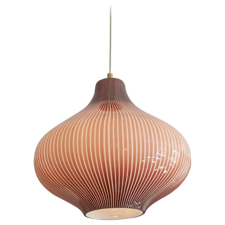1950u0027s Massimo Vignelli For Venini Onion Ceiling Lamp