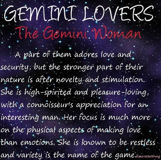 What happens when the Gemini Man falls in Love Find Out
