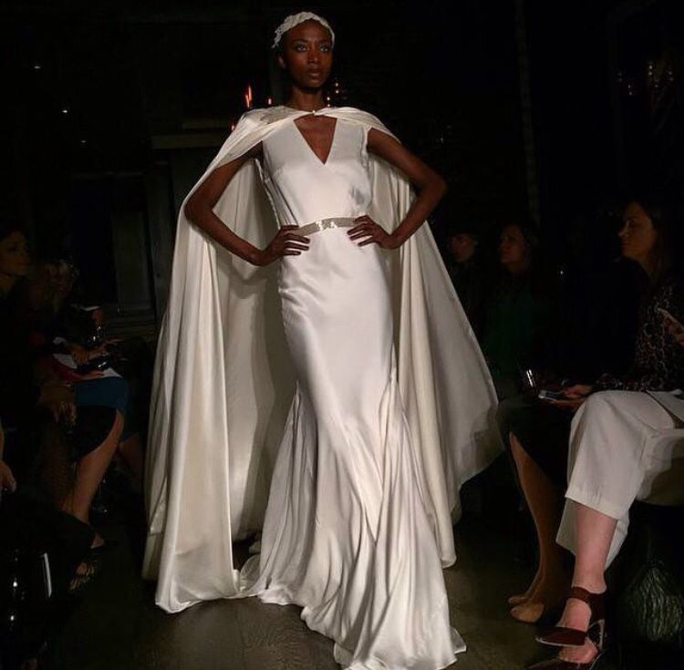 Love love love this Joanna Johnson cape seen @ New York bridal fashion week