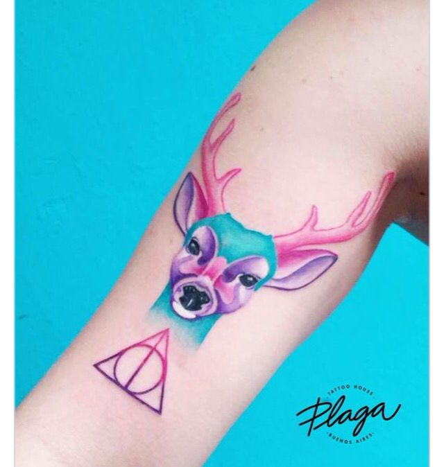Harry Potter Tattoo Deathly Hallows Symbol Tattoo Patronum Tattoo