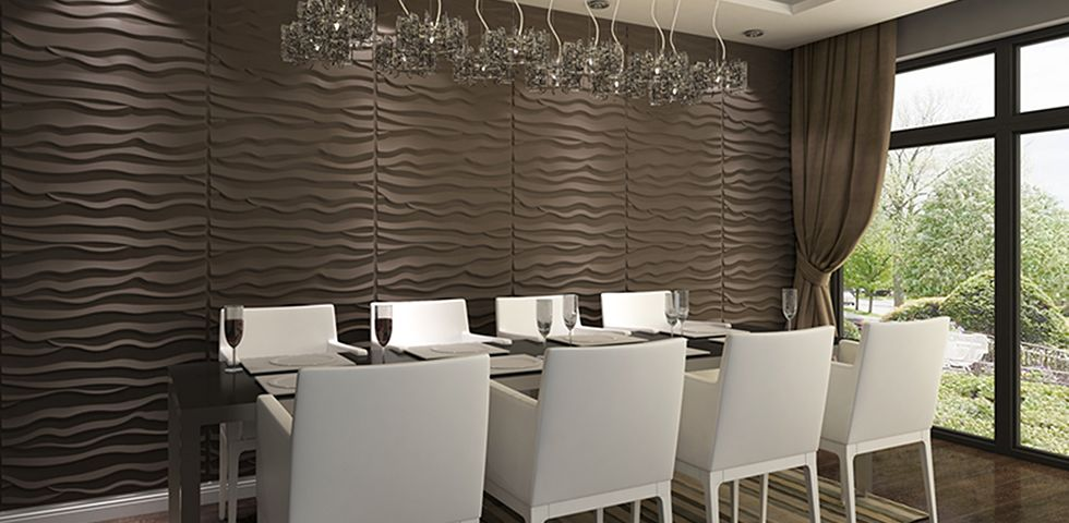 Dining Room Wallpaper Uk Part - 40: Beach Board Wall Panels - Modern Feature Wall - Decorative Cladding - In  Home, Furniture U0026 DIY, DIY Materials, Wallpaper