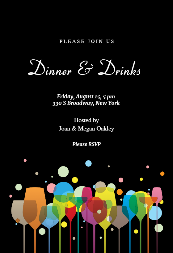 Ambience Dinner Party Invitation Template Free Greetings Island Cocktail Party Invitation Cocktail Invitations Party Invite Template