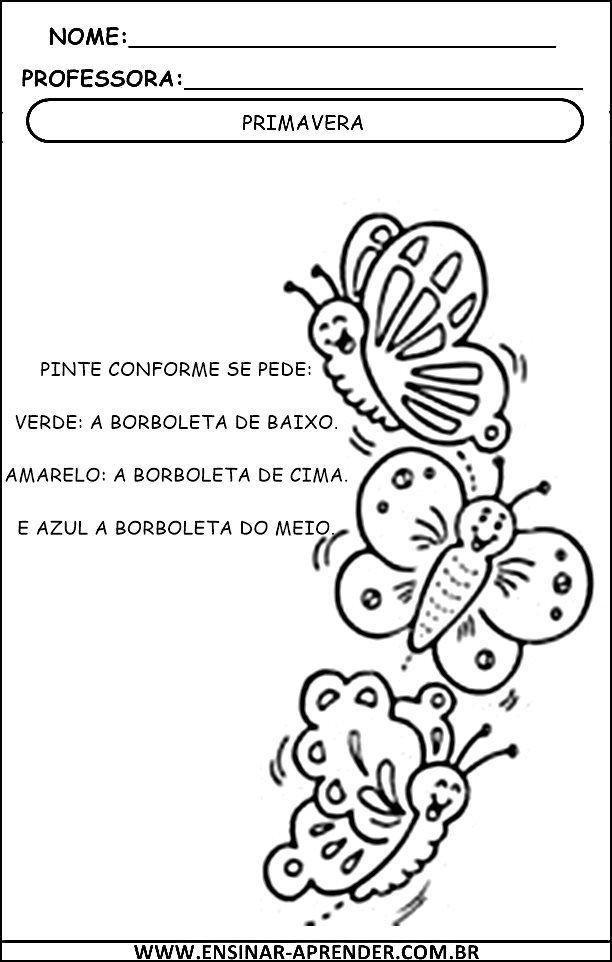 ATIVIDADES SOBRE A PRIMAVERA – PARA IMPRIMIR | Cantinho do Educador ...