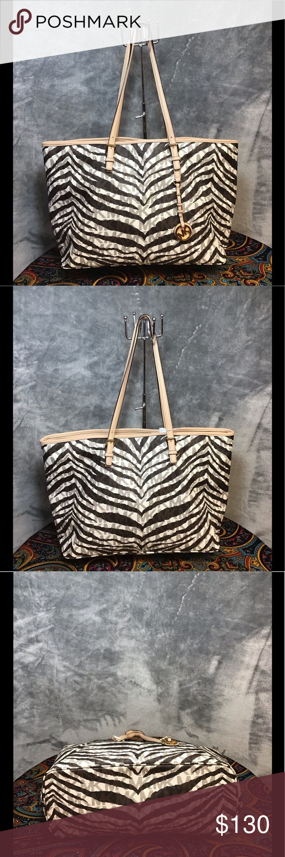 a02427d205b3 Michael Kors Purse Zebra print tote style authentic Michael Kors bag like  brand new condition barely used at all KORS Michael Kors Bags