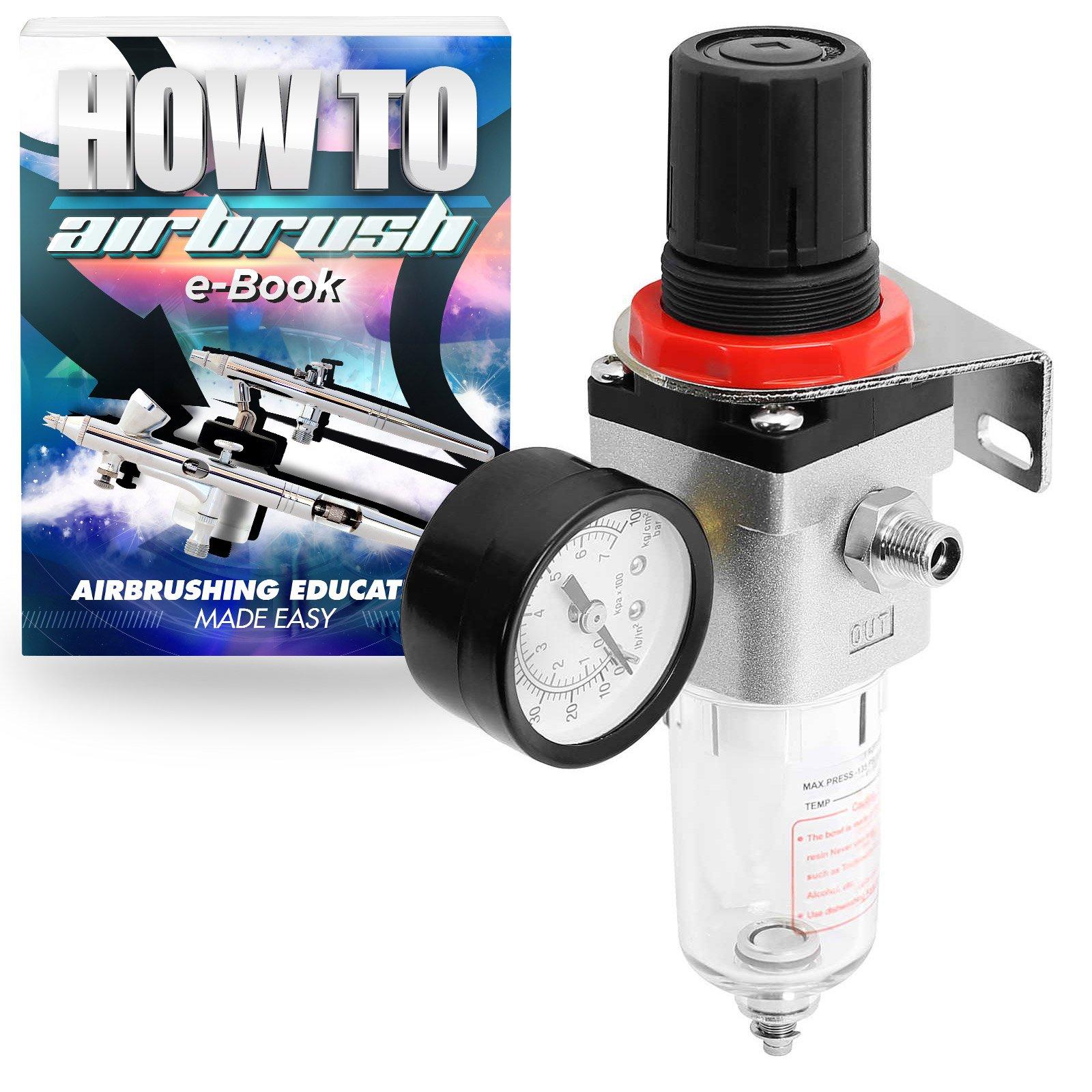 Airbrush Air Compressor Regulator with Moisture Trap Air