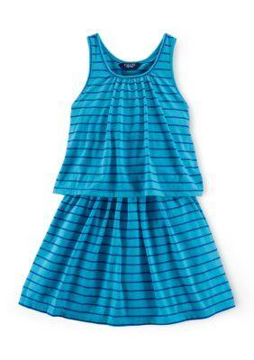 Chaps  Sleeveless Jersey Tank Dress Girls 7-16