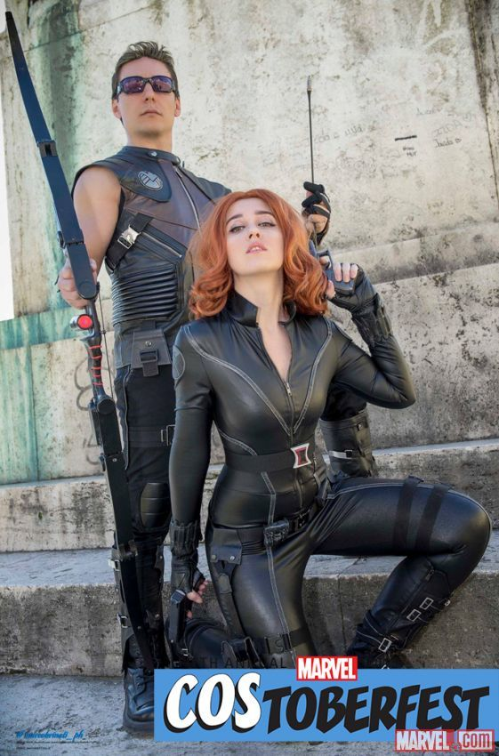 Costoberfest 2015: Sonia & Paul as Black Widow & Hawkeye