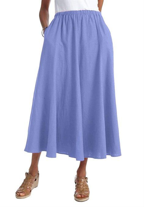 c9c452bba09 Women s Plus Size Skirt in cool linen blend
