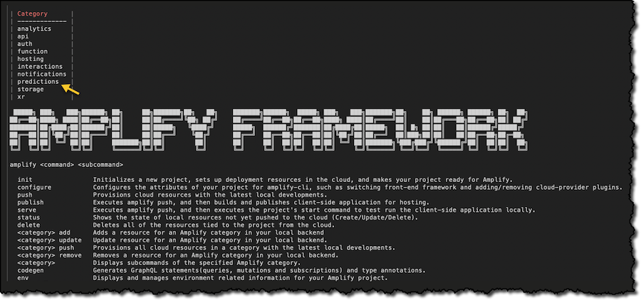 Amplify Framework Update Quickly Add Machine Learning