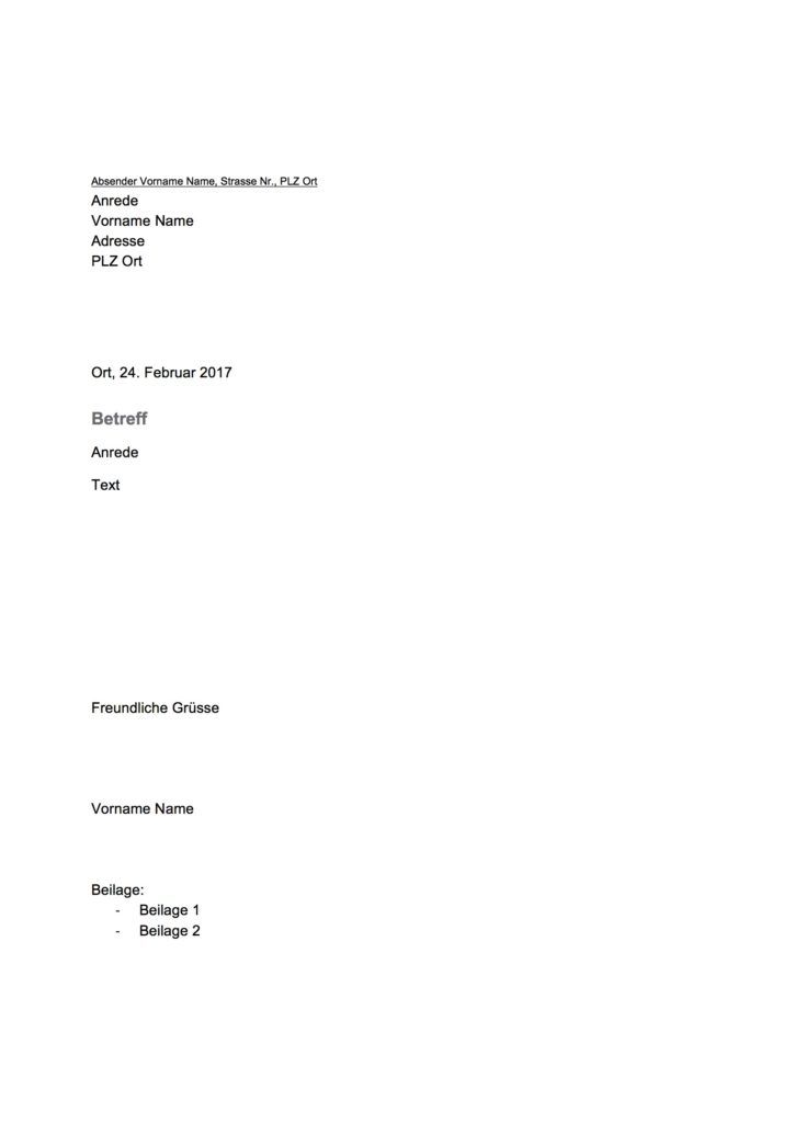 Vorlage Geschäftsbrief Word Schweiz Muster Und Vorlagen Pinterest