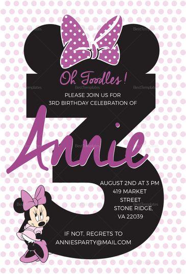 Joyous Minnie Mouse Invitation Template Minnie Mouse Invitations Minnie Mouse Birthday Invitations Mickey Mouse Birthday Invitations