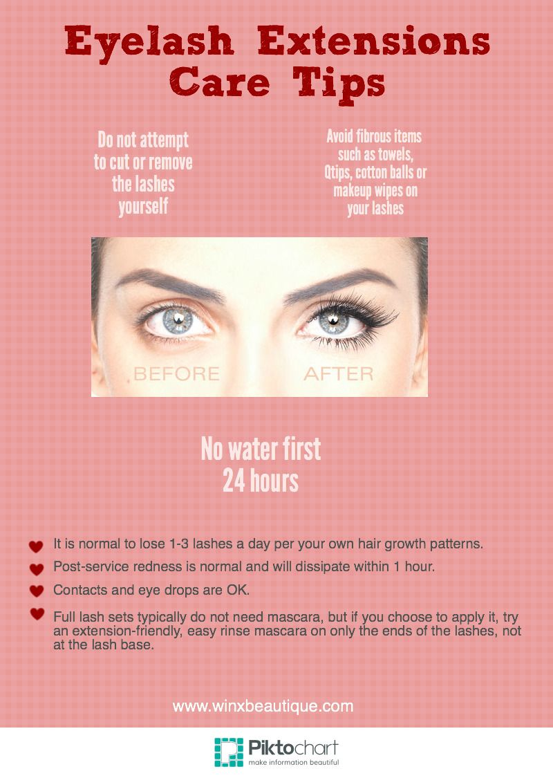 Eyelash Extensions Care Tips from LA's best lash salon