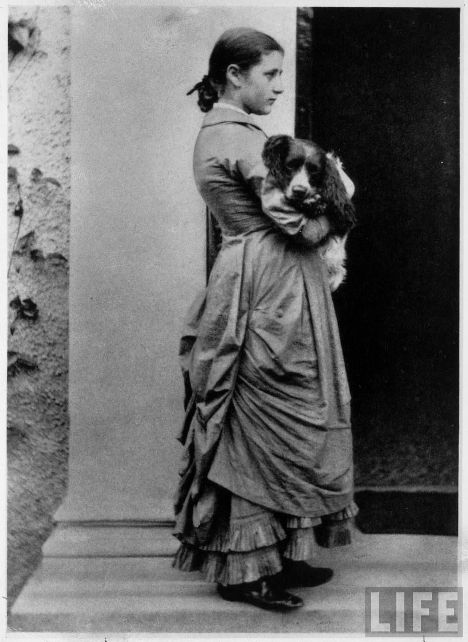 Young Beatrix Potter and her #spaniel